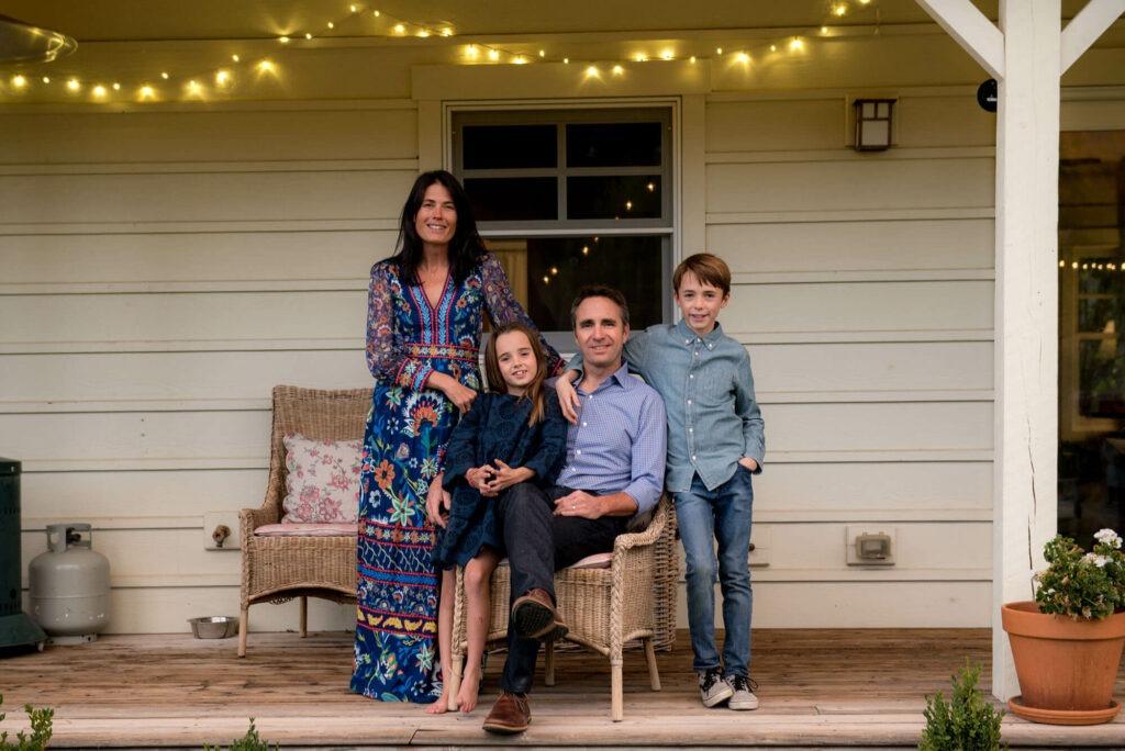 family portrait on outside porch taken by Michele Cardamone