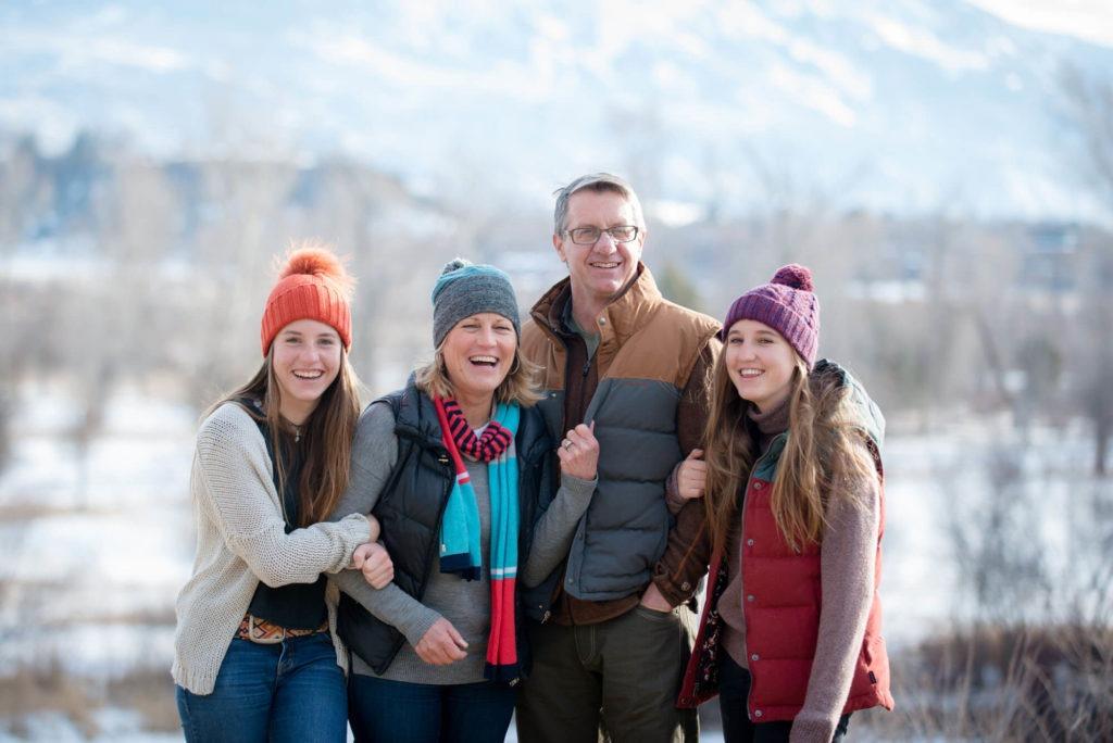 family portrait taken in the winter by Michele Cardamone
