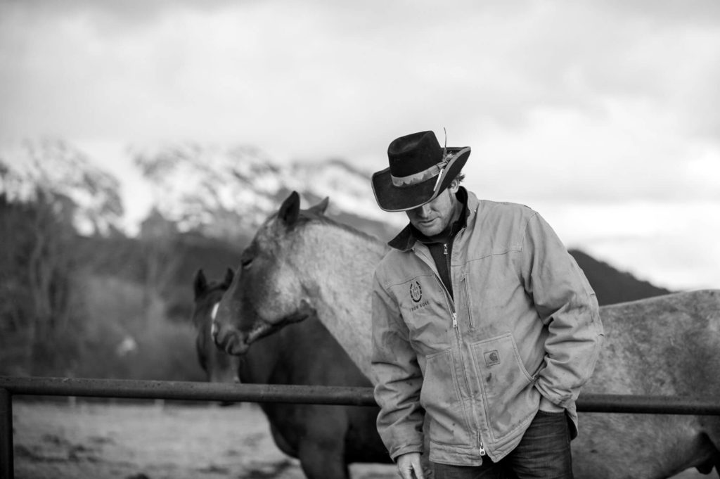cowboy with his horse