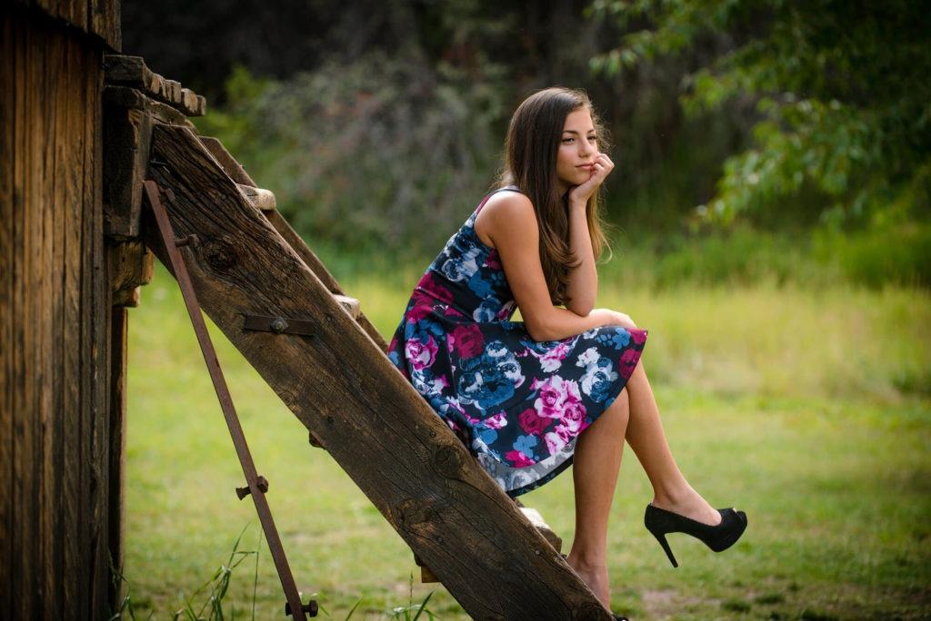 portrait of teenage a girl taken by Michele Cardamone