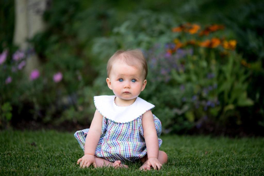 portrait of a baby girl taken by Michele Cardamone