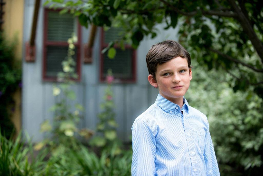 portrait of a boy taken by Michele Cardamone