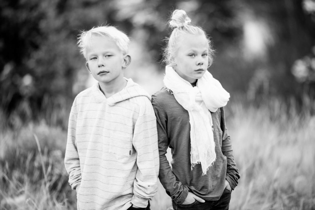 sibling portrait by Michele Cardamone