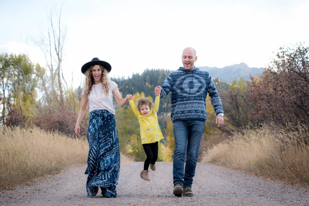 The joy of family photos with a 3-year old