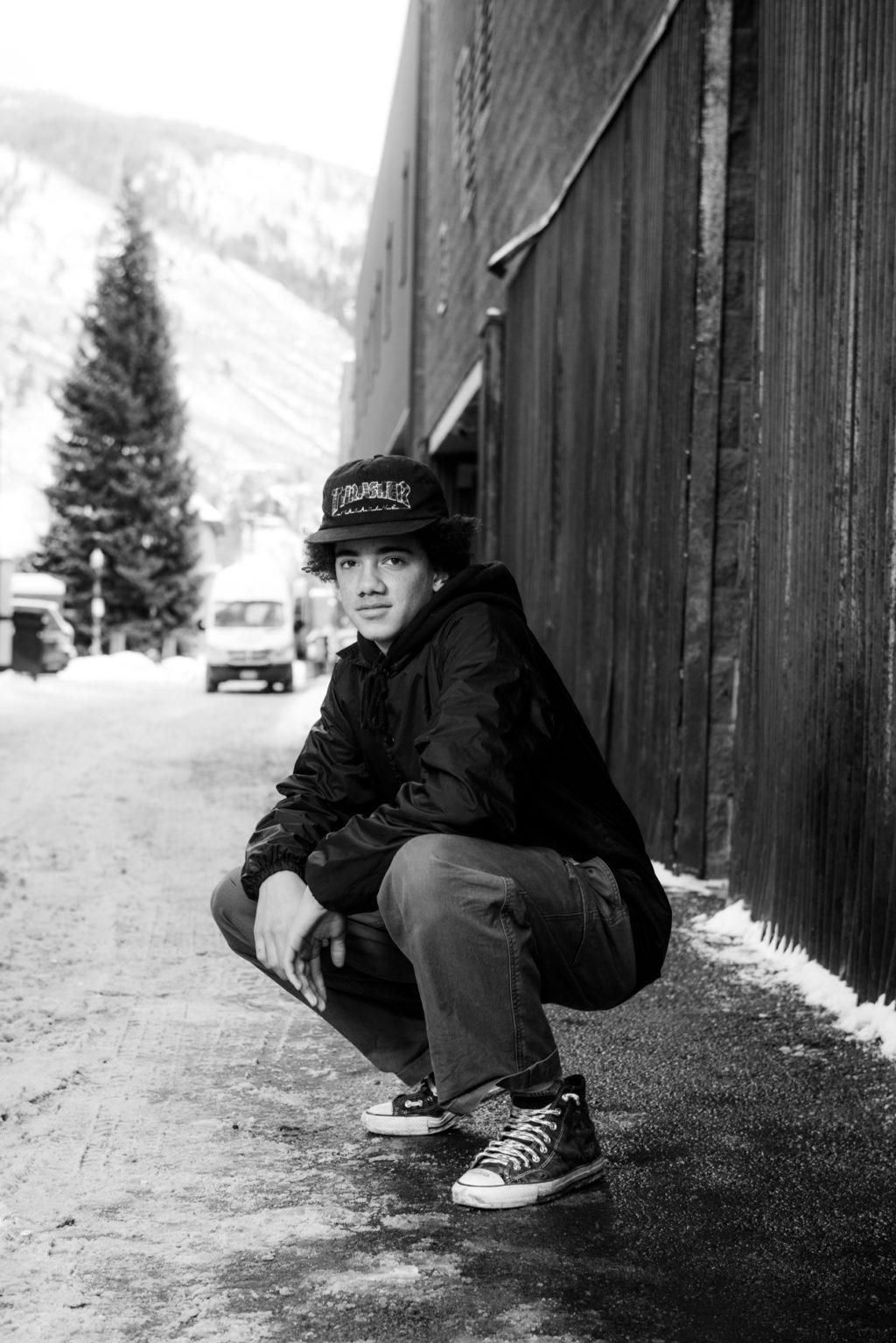 teenage boy in alley on Aspen
