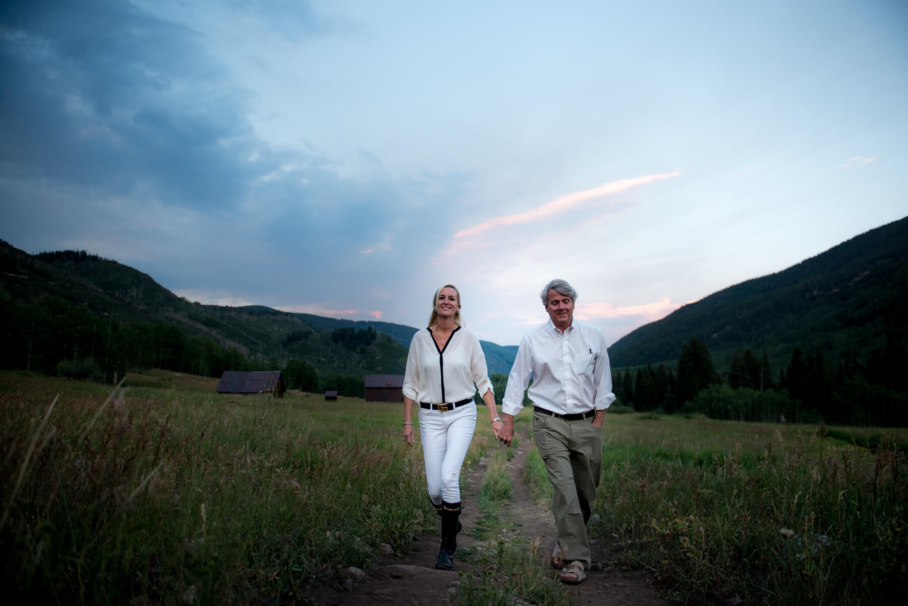 Colorado couple at sunset