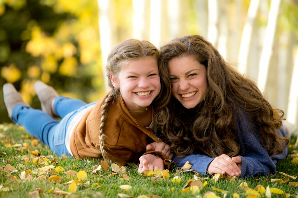Photo of sisters in fall